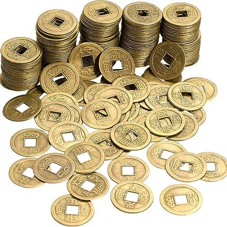 448e78dd0d Boao 200 Pezzi Monete Cinesi di Feng Shui Fortuna Moneta I-Ching Moneta per  Porta