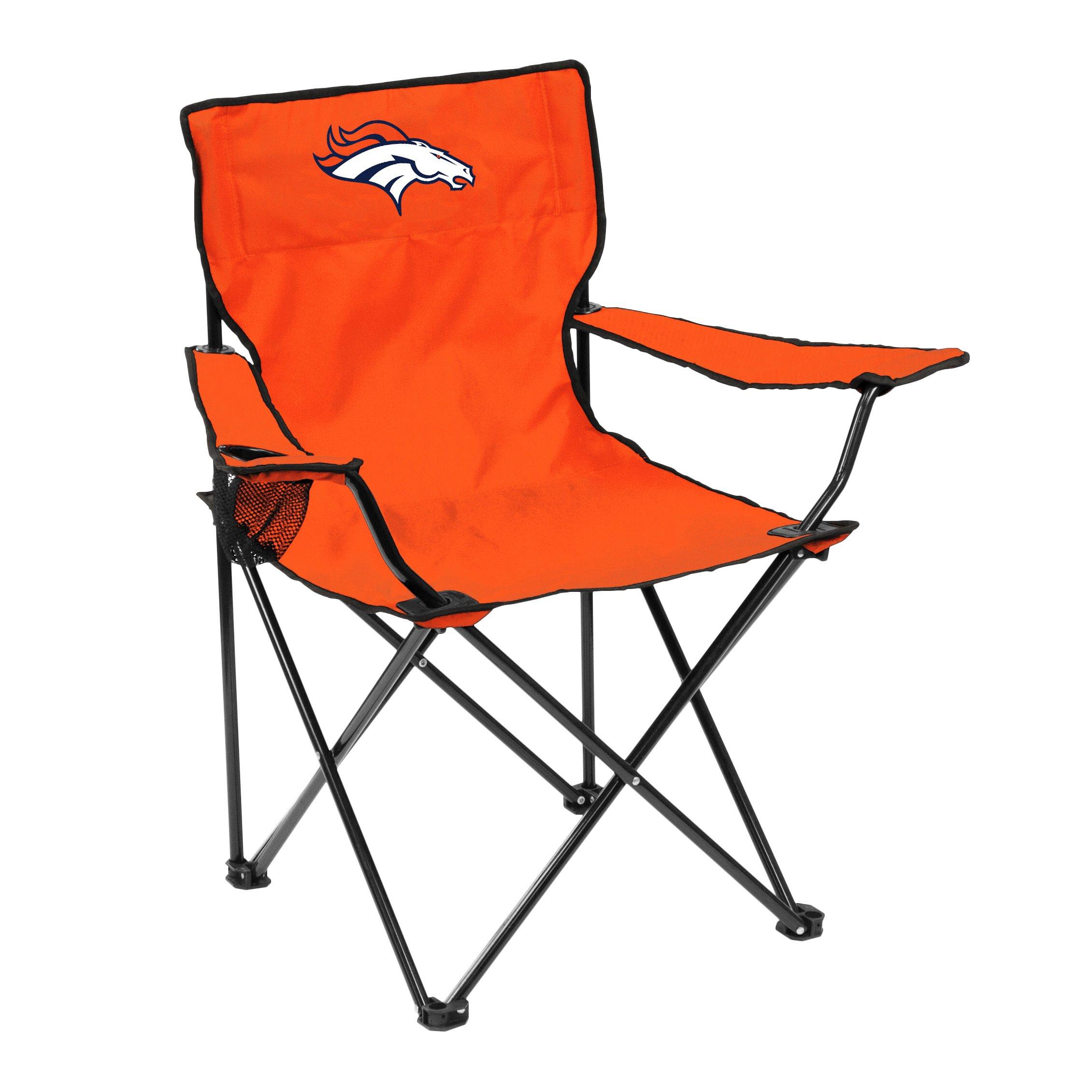 Logo Brands NFL Denver Broncos Quad Chair Quad Chair, Carrot, One Size