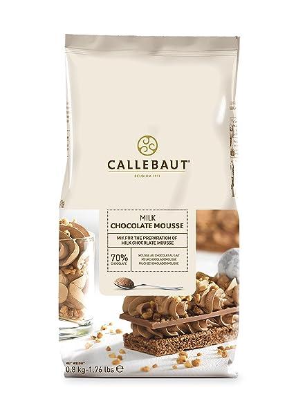 Mousse de chocolate con leche de callebaut