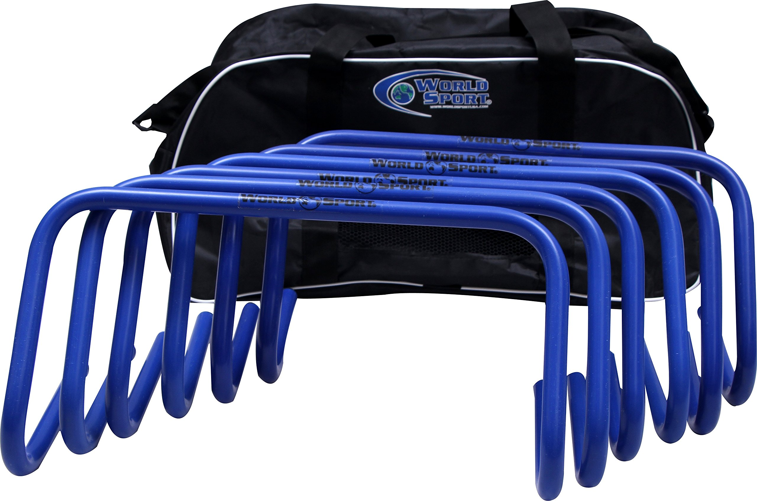 World Sport Set of SIX 9 Inch Agility Hurdles with Carry Bag