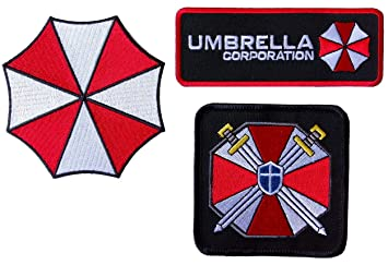Resident Evil Umbrella Corporation de ciencia ficción Parches De Disfraz de cosplay juego de 3