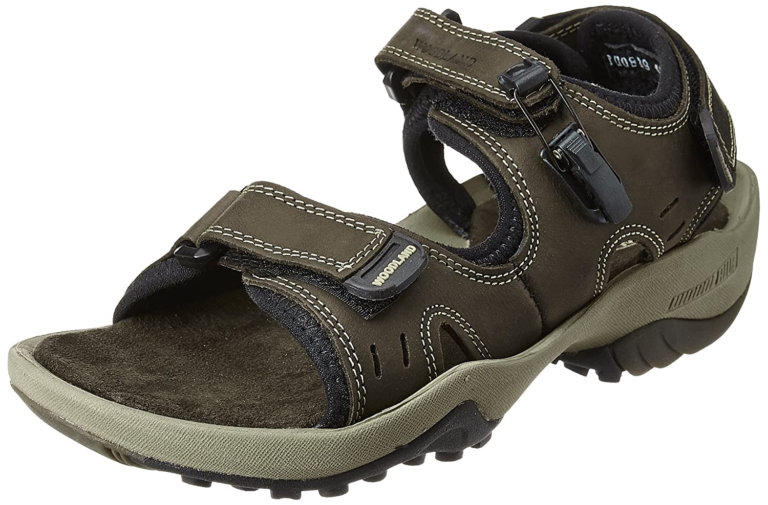 d18b81ea31ed Woodland Men s Leather Sandals and Floaters  Buy Online at Low Prices in  India - Amazon.in