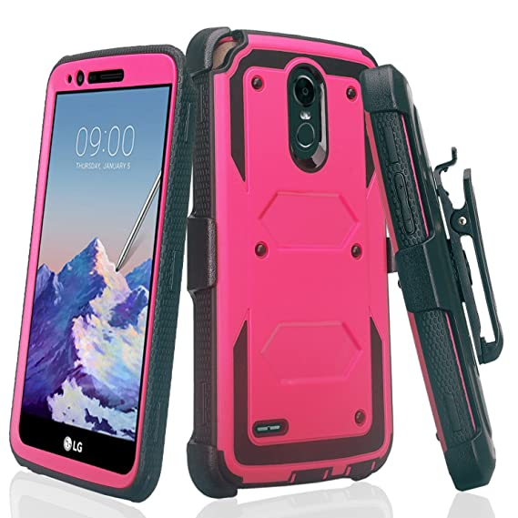 reputable site f1f04 aa832 LG Stylo 3 Case, LG Stylo 3 Plus Case Heavy Duty Belt Clip Holster, Full  Body Coverage [Built in Screen Protector] Rugged Protection for Stylo  3/Stylo ...