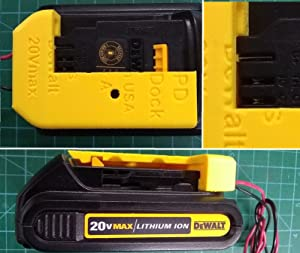 D20 Power Dock for DeWalt DCB20x Battery, wired 14AWG, PN# D20-PD-14, $18.98 shipped