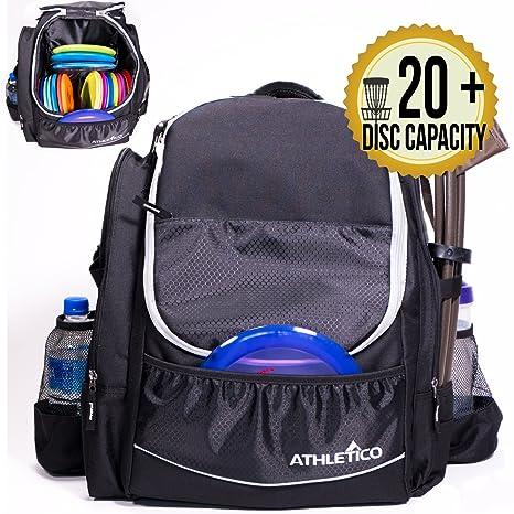 64534dab5589 Athletico Power Shot Disc Golf Backpack | 20+ Disc Capacity | Pro or  Beginner Disc Golf Bag | Unisex Design
