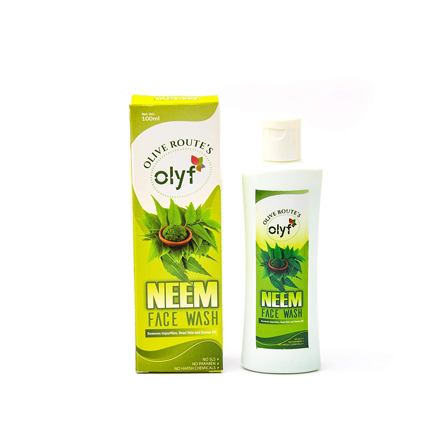 Olyf Neem Facewash, SLS and Paraben free, For all Skin Types, Halal Certified, 100ml