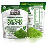 Best Japanese Organic Matcha Green Tea Powder Culinary (15 Servings 1.60oz) for Baking, Smoothies, Lattes & Weight Loss Shakes, Fat Burner & Metabolism Boosters, FREE TOP 100 Recipes Ebook & Videos