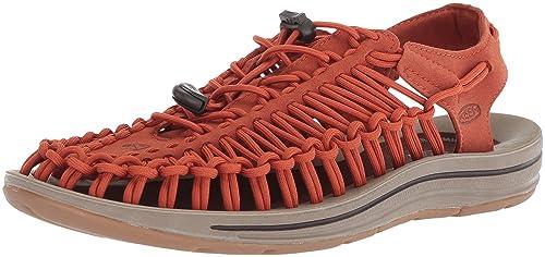 f6d46726153c Image Unavailable. Image not available for. Colour  KEEN Uneek Sandals Men  Orange Shoe ...