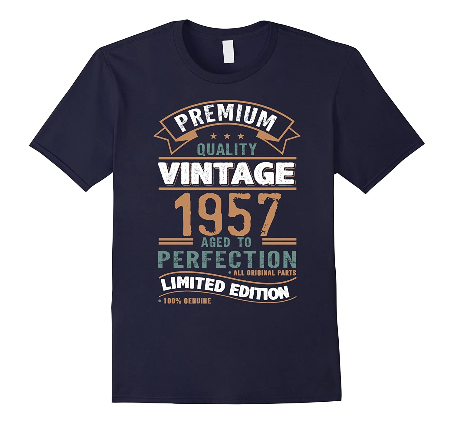 1957 Vintage Year - Aged To Perfection 60th Birthday T-Shirt-CD