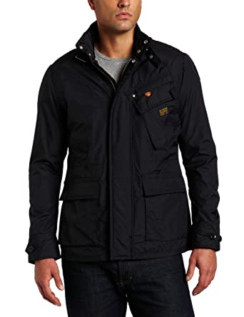 95b6bf5c5e2 G-STAR RAW Men's Sandhurst Jacket, Blue, Small: Amazon.in: Clothing &  Accessories