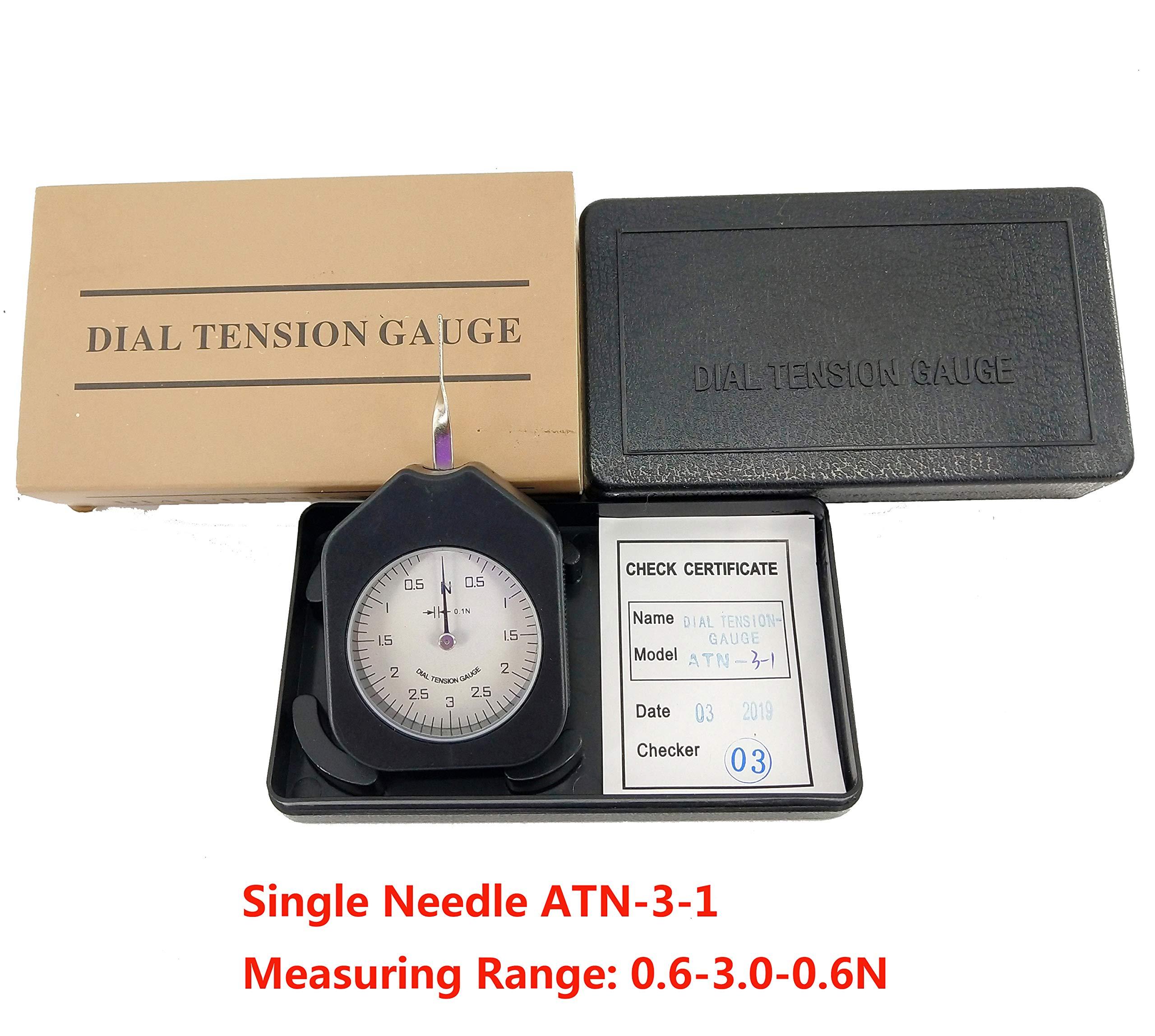 HFBTE ATN-3-1 Pocket Size Dial Tension Gauge Meter Tester with Measuring Range 0.6-3.0-0.6N Division Value 0.1N by HFBTE