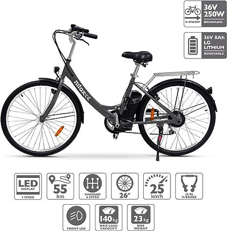 Nilox X5 Bicicleta Eléctrica, Unisex Adulto, Negro, Talla única ...