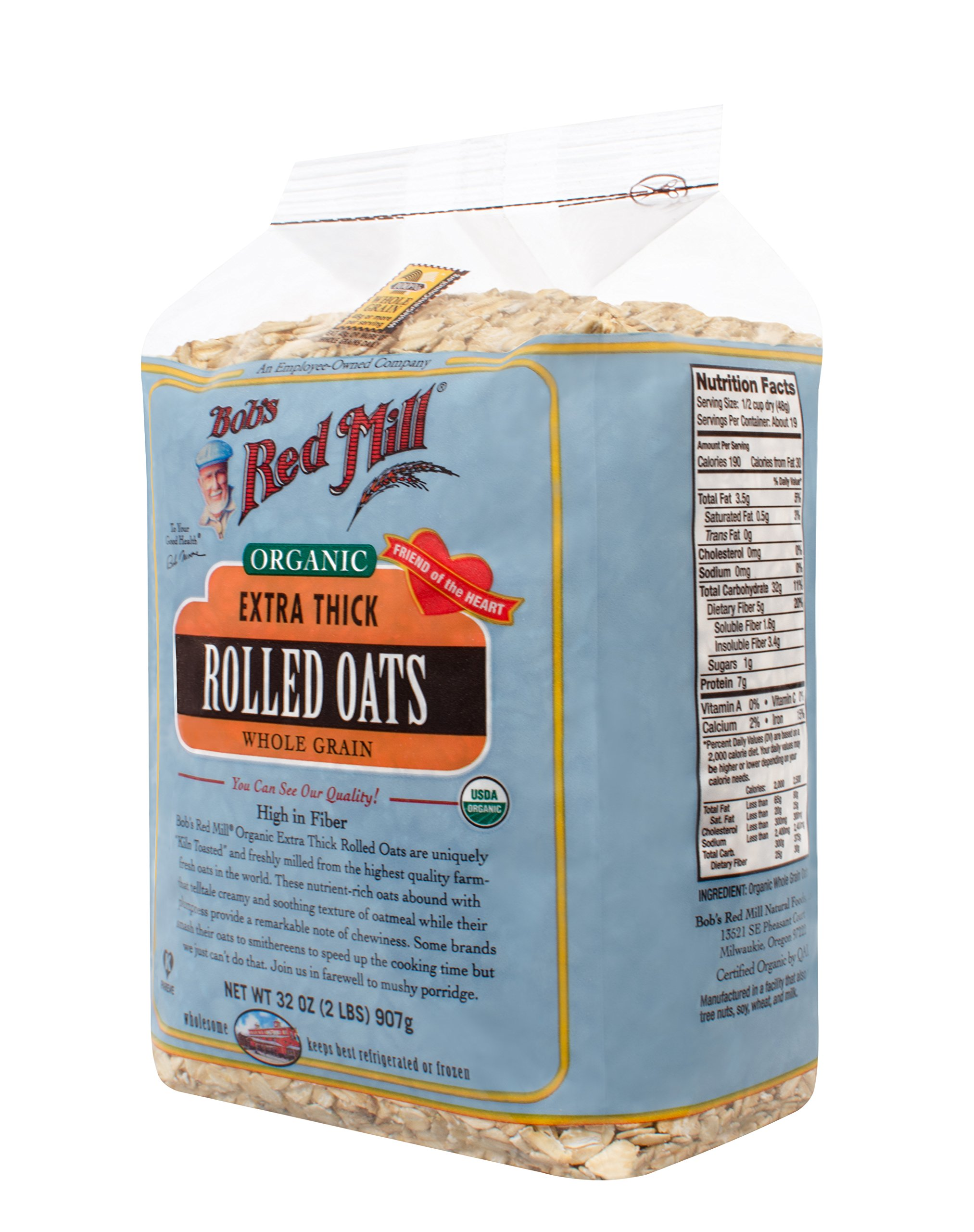 Bob's Red Mill - Organic Oats Rolled Thick, 32 Ounces by Bob's Red Mill (Image #6)