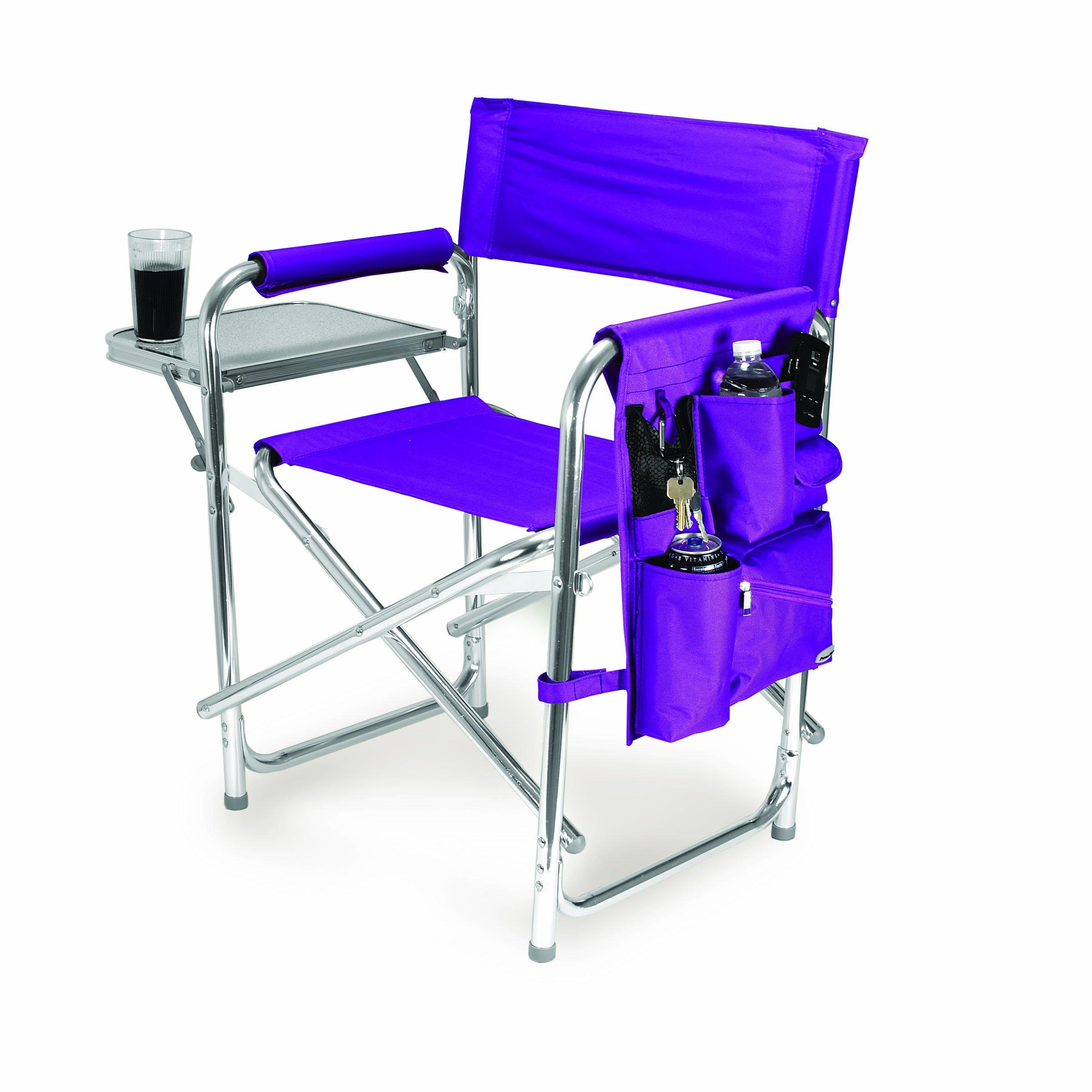 PICNIC TIME NBA Sacramento Kings Portable Folding Sports Chair, Purple