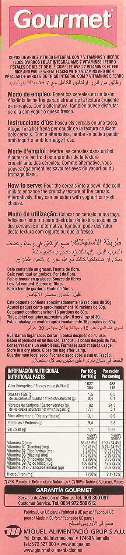 Gourmet - Special Integral - Copos de arroz y trigo integral con 7 vitaminas y hierro - 500 g - [pack de 3]: Amazon.es: Alimentación y bebidas