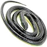 """Ogrmar Rubber Lifelike Mamba Snake Scary Gag Gift Snake Toy For Joke 52"""" Black"""