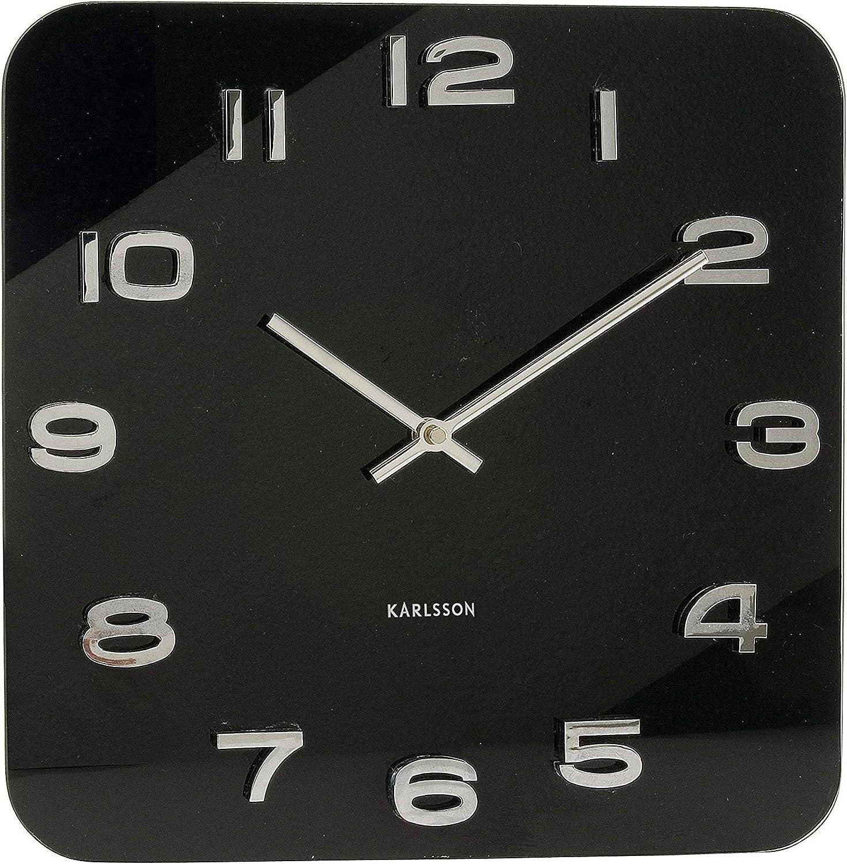 Karlsson Vintage - Reloj de pared, cristal, color negro
