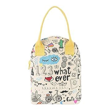 Review Fluf Zipper Lunch Bag,