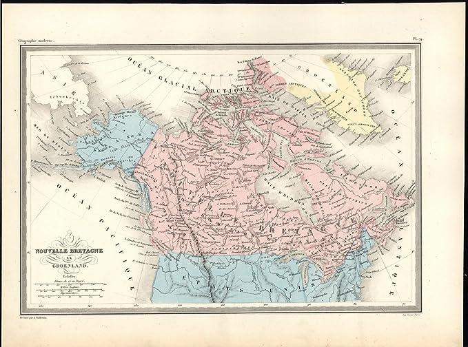 Map Of Canada 1870.British North America Canada Colony Alaska C 1870 Antique Arctic