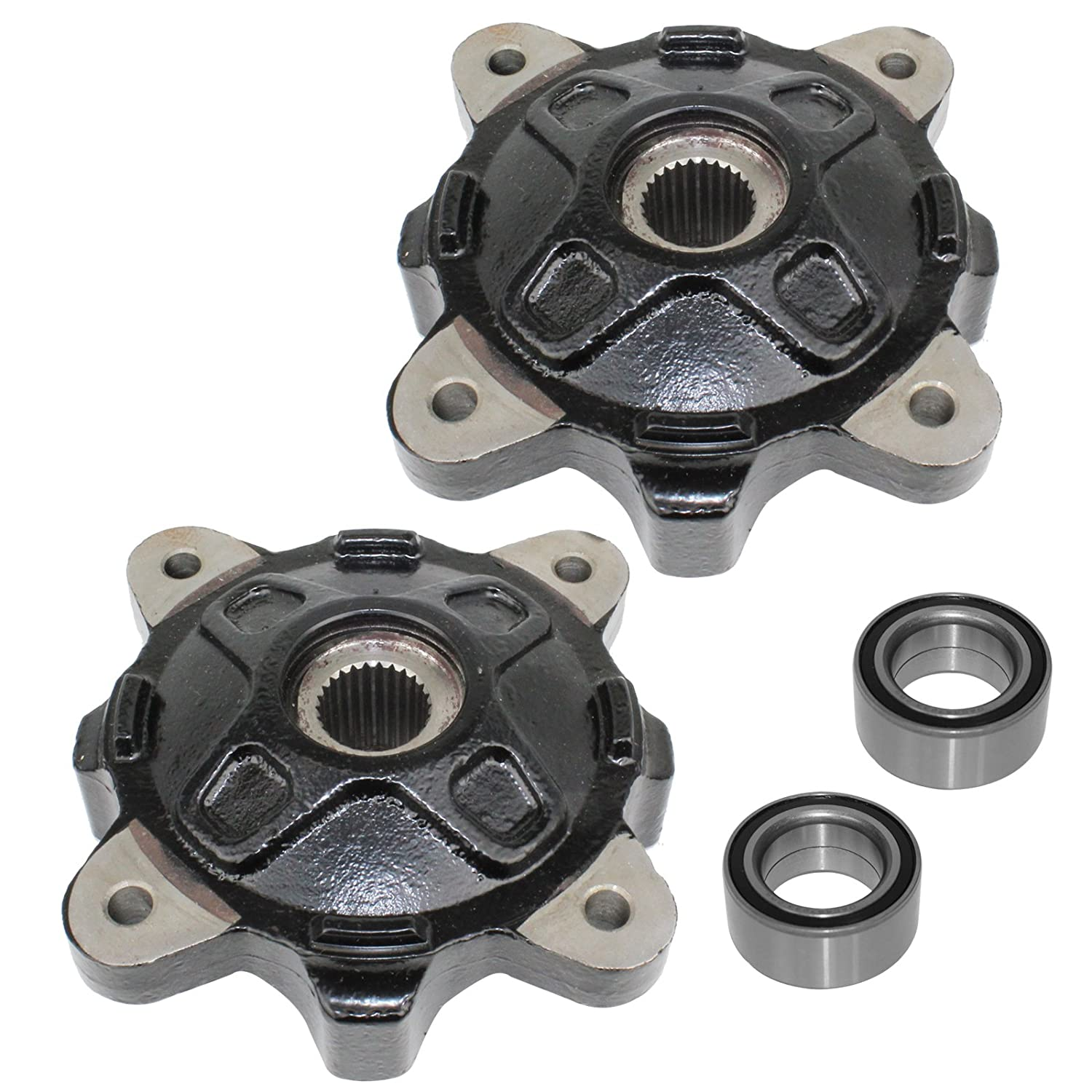 CALTRIC FRONT LEFT RIGHT WHEEL HUBS and BALL BEARINGS FIT Polaris RZR XP 900 2011 2012 2013