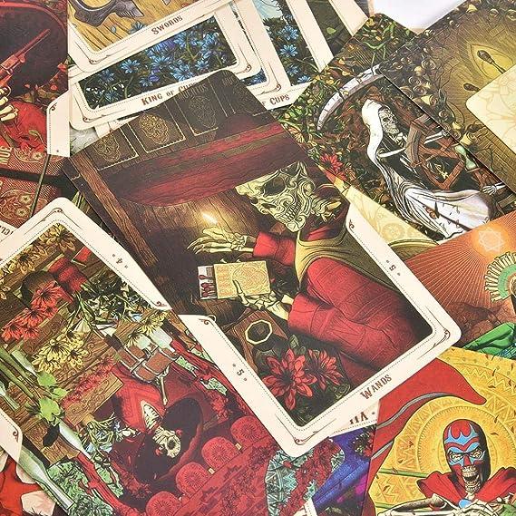 AIMERKUP 78pcs Set Juego de Mesa Tarjeta de Tarot de Santa Muerte Familia Amigos Fiesta Juego de Cartas Mazos Tarjetas de Regalo Juego de Cartas Divertidas Advantage: Amazon.es: Hogar