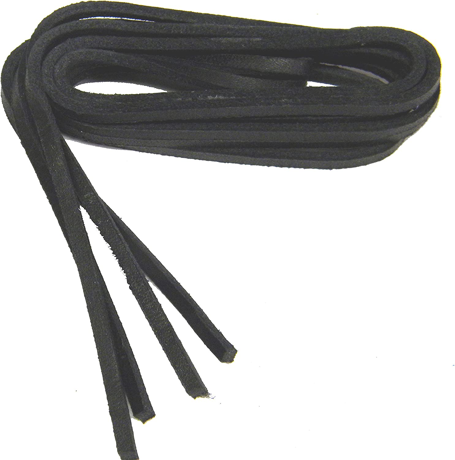 """Dark BROWN COLOR RAWHIDE LEATHER  SHOE//BOOT LACES. 1 PAIR 45/"""" by 1//8/"""" NEW."""