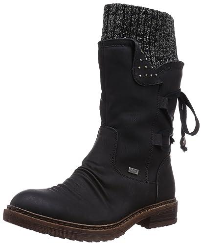 buy online 279d9 1e658 Rieker Womens 94773-00 Damen Langschaft Stiefel Winter Boot