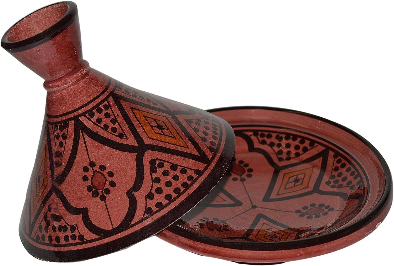 Moroccan Handmade Serving Tagine Exquisite Ceramic Vivid colors Original 6 Inches in Diameter