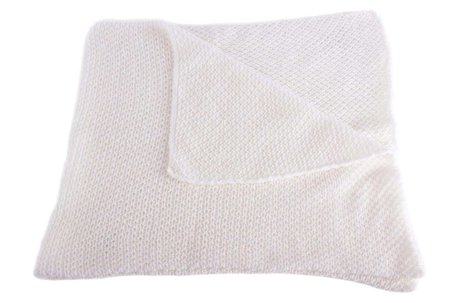 Unisex Super Soft 100% Cashmere Baby Blanket - 'White' - hand made in Scotland by Love Cashmere by Love Cashmere   B00TIITX4Y