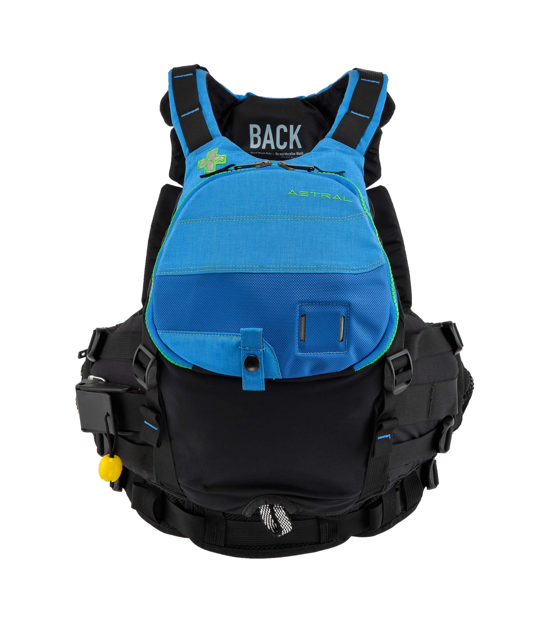 Astral GreenJacket Life Jacket PFD for Whitewater Rescue, Sea, and Stand Up Paddle Boarding, Deep Water Blue, Small/Medium