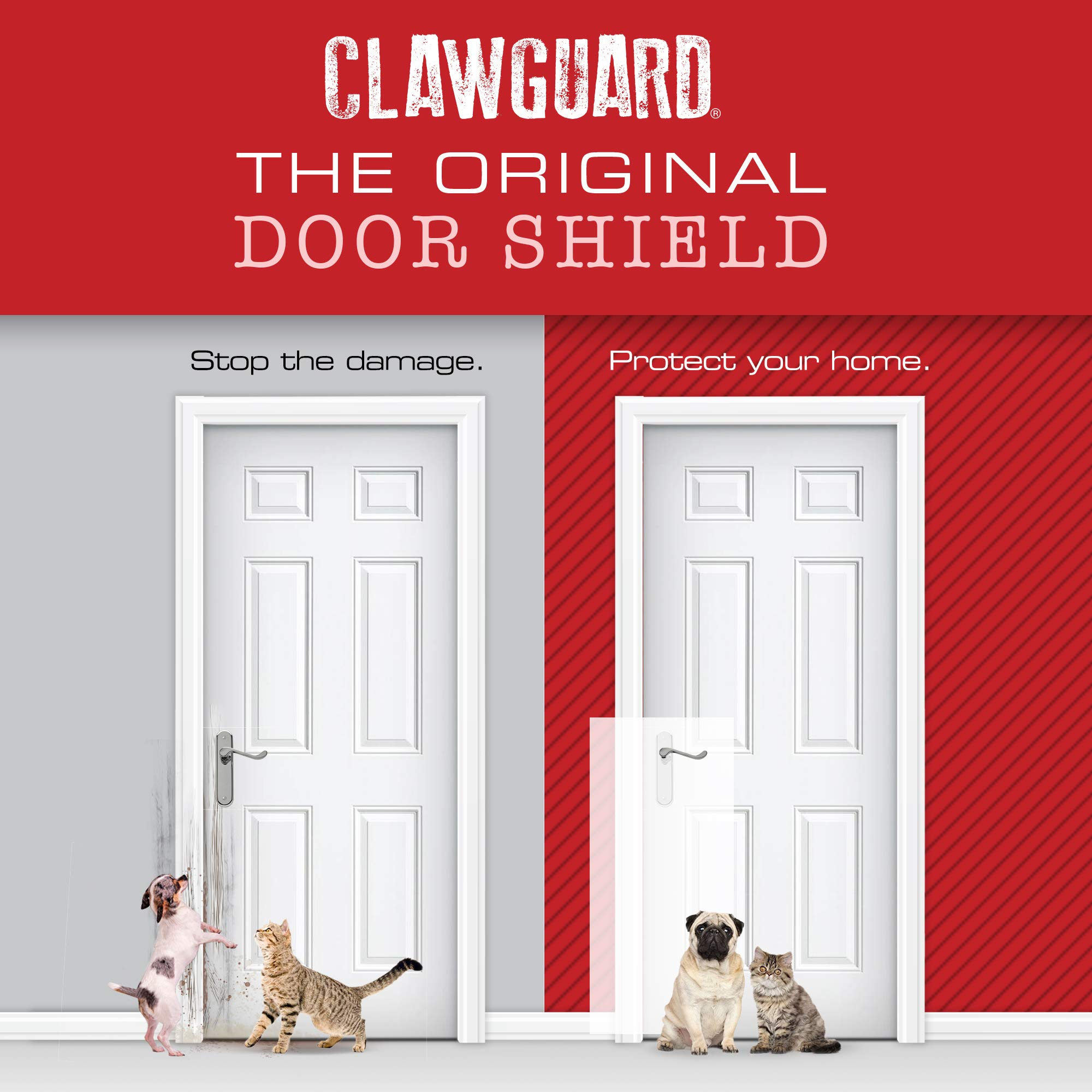 CLAWGUARD Original The Ultimate Door Scratch Shield, Frame & Wall Protection by CLAWGUARD