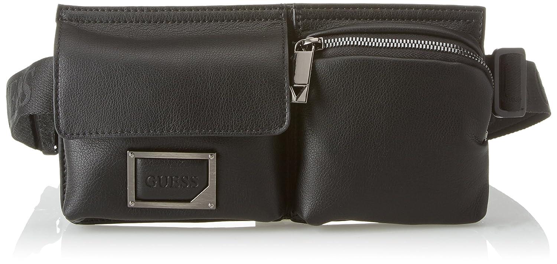Guess Bags Crossbody, Sacs portés épaule homme, Noir (Black), 2.8x12x24.5 cm (W x H L) HM6431POL82