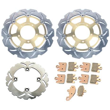 Amazon.com: TARAZON Front Rear Brake Discs Rotors and Pads ...