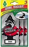 Tabla 102710 Ambientador para Coche, Diseño de 'Arbre Magique Tris Sport