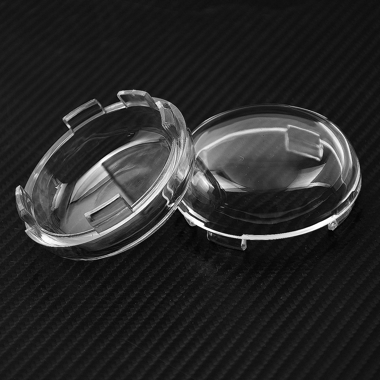 YHMTIVTU Bullet Turn Signal Light Lens Cover for Harley Sportster Street Glide Road King Softtail Dyna,2 Pcs Clear