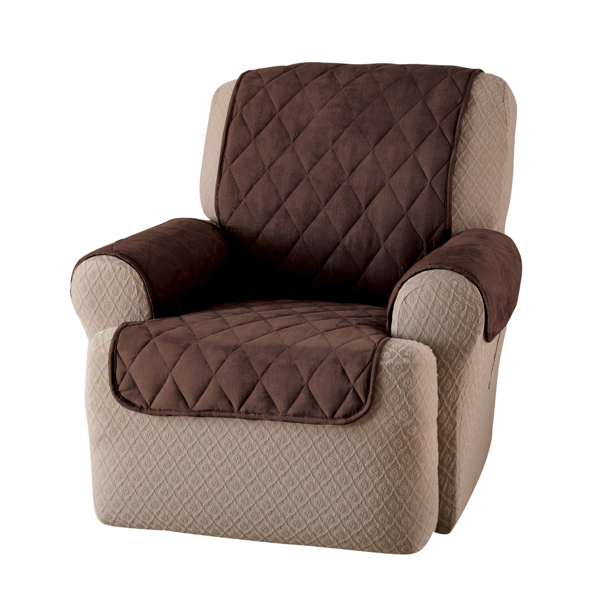 Innovative Textile Solutions Suede Wing Recliner Protector, Chocolate by Innovative Textile Solutions