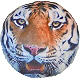 DEALS INDIA Animal 3D Print Cushion (35 Cm,Multicolor)