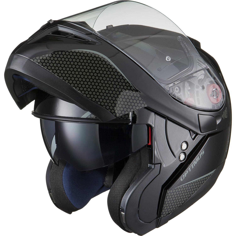 BLACK Optimus SV Motorrad Roller Klapphelm