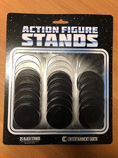 2-1//8 Inch Diameter NEW Action Figure Stand Pack of 25 Clear Stands