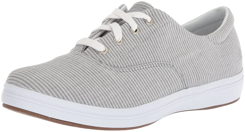 Grasshoppers Women's Janey Ll Textural Stripe Sneaker B072Z7K3ML 12 W US|Drizzle Grey