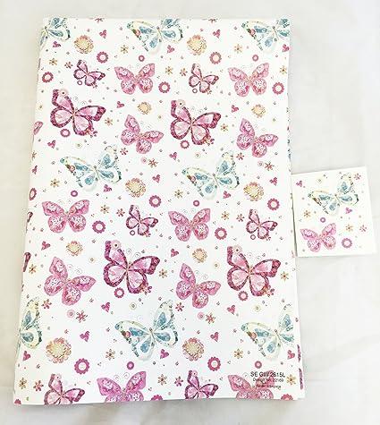 2/fogli da 5/design 10/fogli di carta regalo farfalla