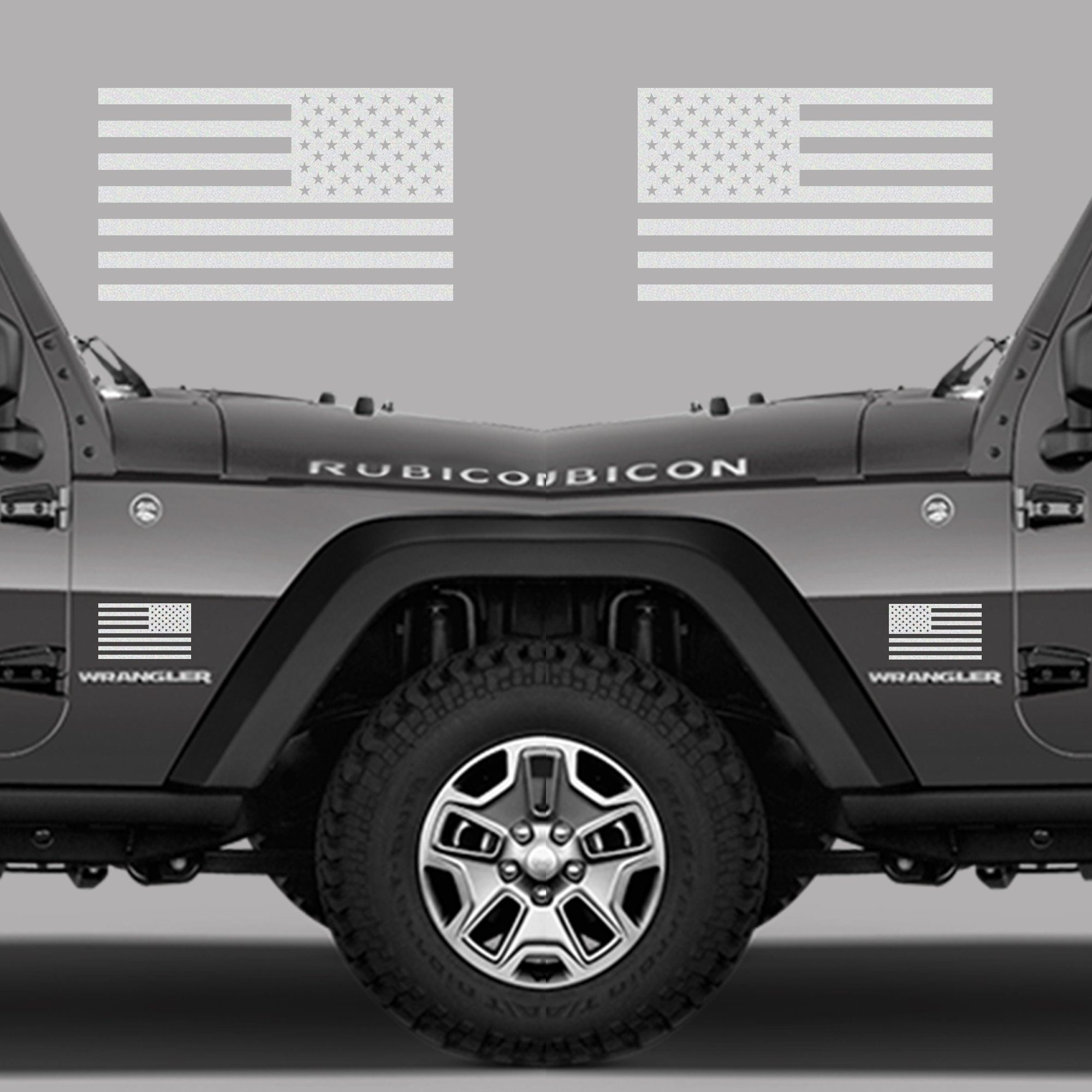 Classic biker gear subdued american flags tactical military flag usa decal jeep 5x3