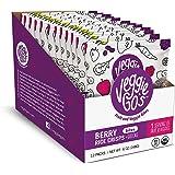 Veggie-Go's Organic Fruit and Veggie Bites, Berry Rice Crisps + Greens, 12 Count