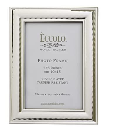 Amazoncom Eccolo World Traveler Hammered Silver Plated Frame