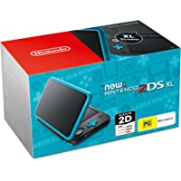 New Nintendo 2DS XL Console Black Blue with Mario Kart 7 (Code)