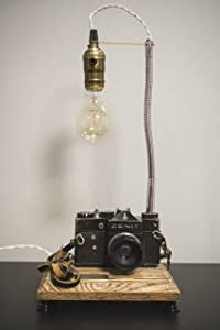 Camera lamp Pride&Joy gifts for him old camera lights gifts for her vintage camera lamp retro camera lamp unique gifts engraving home decor