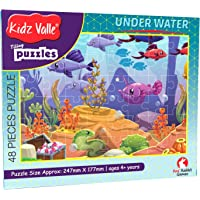 Kidz Valle Underwater 48 Pieces Tiling Puzzles (Jigsaw Puzzles, Puzzles for Kids, Floor Puzzles) Puzzles for Kids Age 4 Years and Above