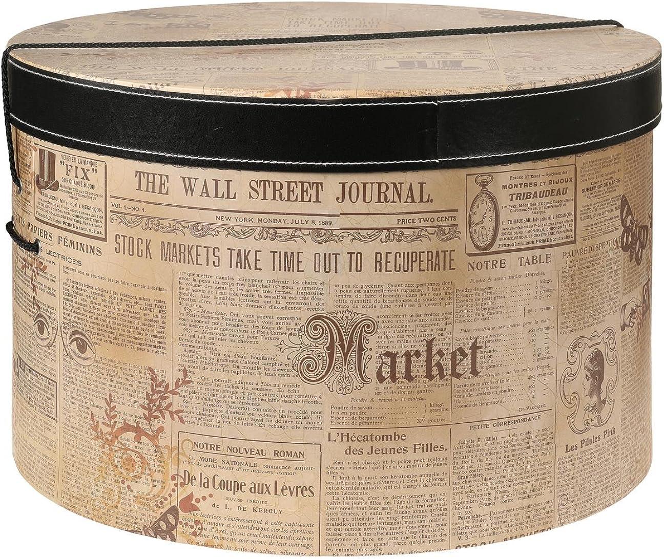 Lierys Caja Sombrero Newspaper 38 cm Mujer/Hombre - sombrerera para Verano/Invierno - Talla única Beige: Amazon.es: Ropa y accesorios