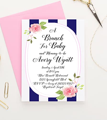 amazon com brunch for baby invitations floral baby shower
