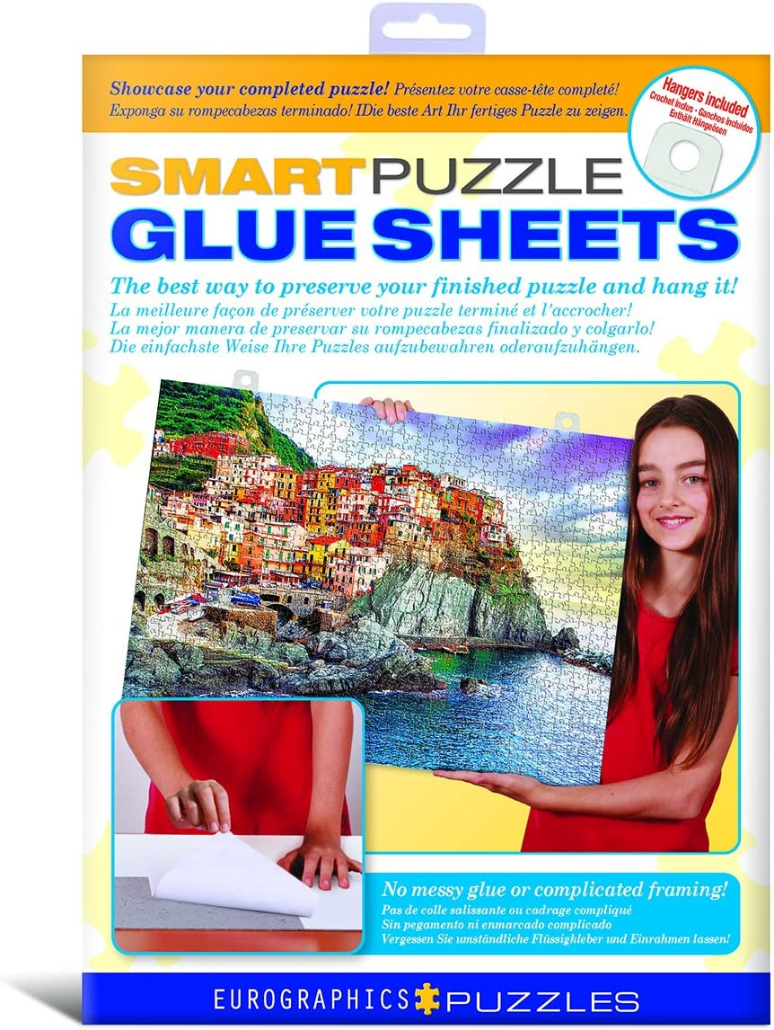 Peel /& Stick Adhesive Sheet for Adults and Kids RECHIATO 16 Sheets Puzzle Glue Sheets No Stress and No Mess Puzzle Saver Preserve Your Puzzle Masterpieces of Up 4 Sets of 1000 Piece Puzzles